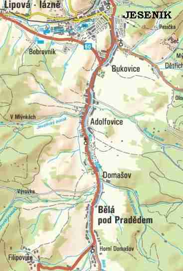 Bela - mapa sytuacyjna