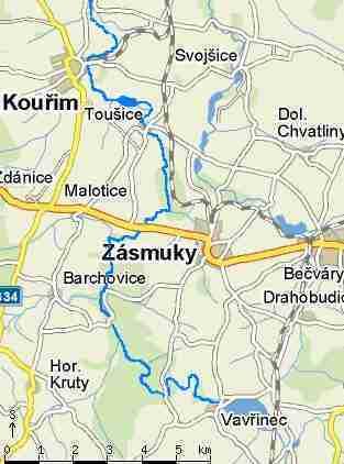Vavrinec - mapa sytuacyjna