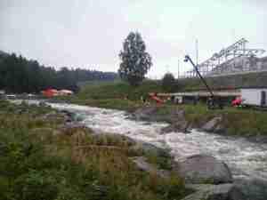 Odcinek slalomowy za zaporą