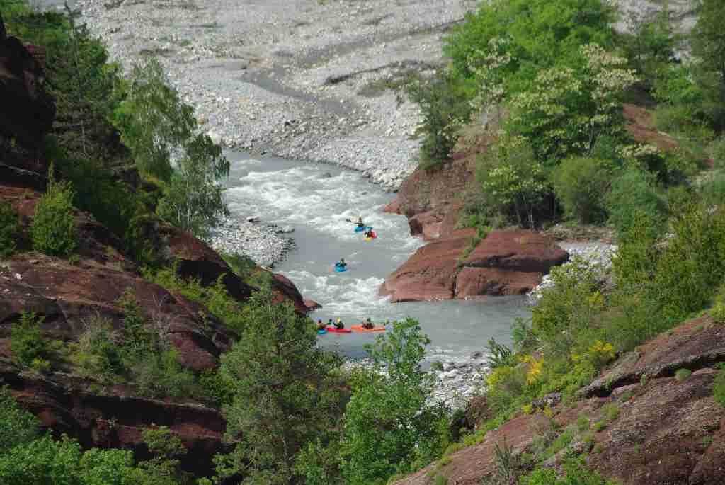 Początek kanionu rzeki Var