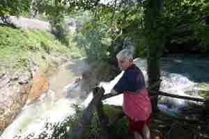Marecki podziwia wodospad Sljunicy